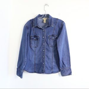 Denim shacket cotton Ginny vintage shirt large top